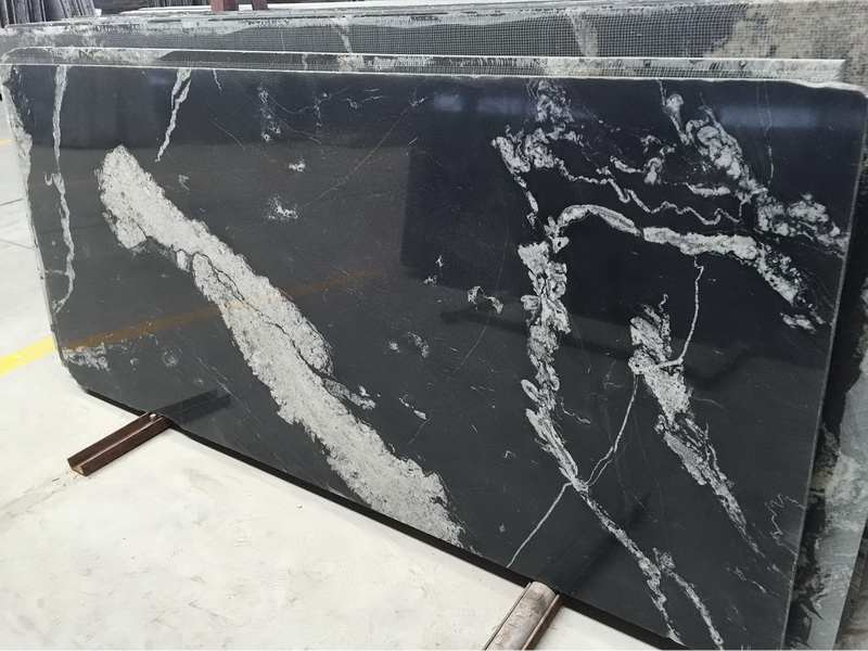Cosmic Black Granite Slabs
